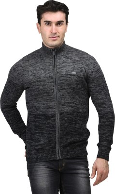 Mettle Solid Turtle Neck Men's Black Sweater