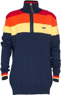 Status Quo Cubs Striped Round Neck Casual Boy's Multicolor Sweater