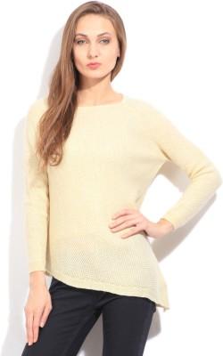 Arrow Self Design Casual Women's White Sweater