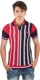 Igsmart Self Design Men's Polo Neck Red ...