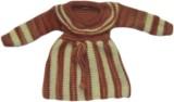 BebzCozzy Striped Round Neck Girls Brown...