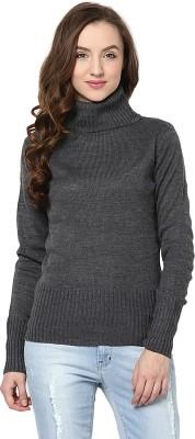 Yepme Solid Turtle Neck Casual Women's Grey Sweater