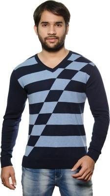 AMX Argyle V-neck Casual Men's Dark Blue, Light Blue Sweater