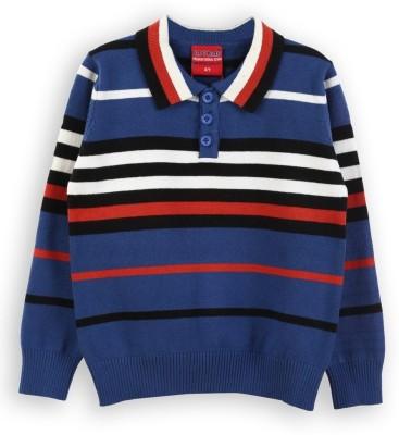 Lilliput Striped V-neck Casual Boys Sweater