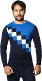 AMX Argyle Round Neck Casual Men Multico...