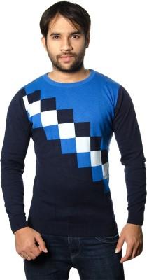AMX Argyle Round Neck Casual Men's Multicolor Sweater