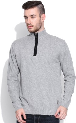 HRX by Hrithik Roshan Solid Turtle Neck Casual Men's Grey Sweater