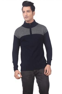 Hoffmen Solid Round Neck Men's Blue Sweater