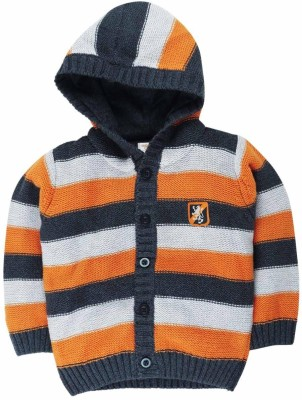 Mom & Me Striped Round Neck Casual Boy's Multicolor Sweater