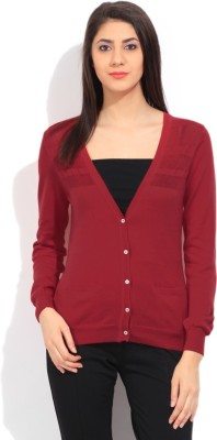 Puma Solid Casual Women's Red Sweater