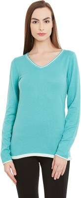 Yepme Solid V-neck Casual Women Green Sweater at flipkart