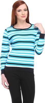 CLUB YORK Striped Round Neck Casual Women,s Multicolor Sweater