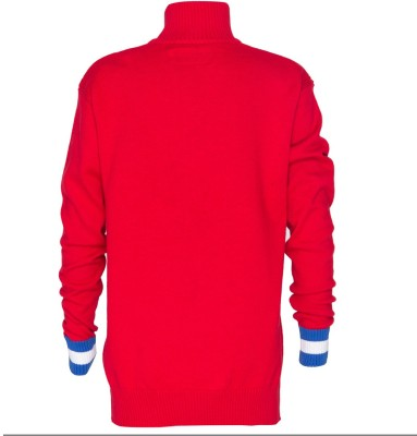 Status Quo Cubs Solid Turtle Neck Casual Boy's Red Sweater