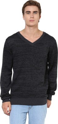 Yepme Solid V-neck Casual Men,s Grey Sweater