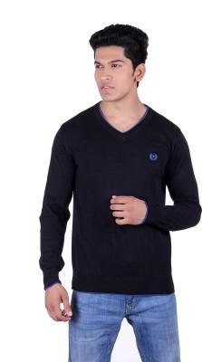 Ogarti Solid V-neck Casual Men,s Black Sweater