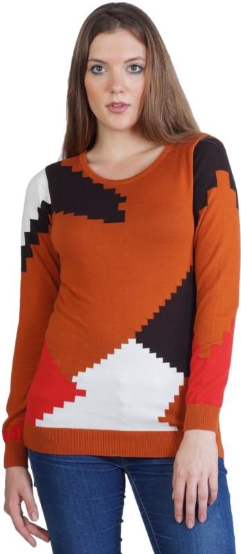 Kalt Self Design Round Neck Casual Women Multicolor Sweater