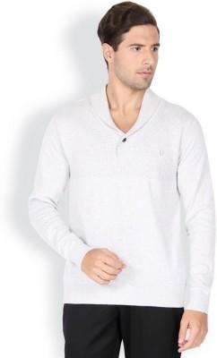 Blackberrys Solid V-neck Men's Grey Sweater