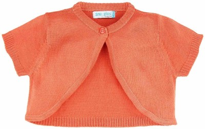 Snuggles Solid Round Neck Baby Girl's Pink Sweater