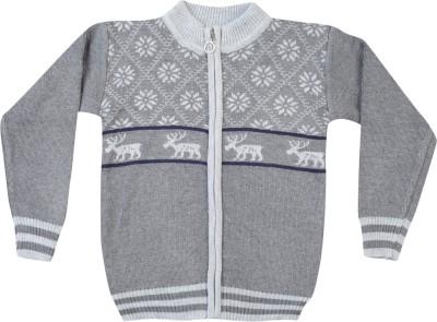 Addyvero Geometric Print Turtle Neck Casual Baby Boy's Multicolor Sweater