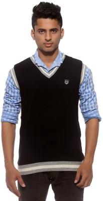 Sports 52 Wear Solid V-neck Casual Men's Black, Grey Sweater