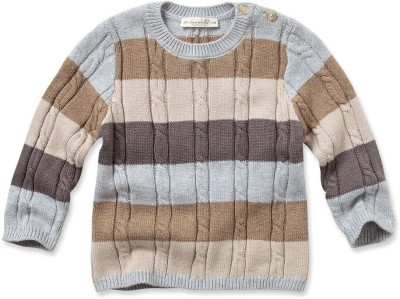 Dave & Bella Striped Round Neck Party Baby Boys Multicolor Sweater