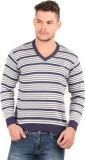Oxemberg Striped V-neck Formal Men Purpl...