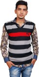 Ganpati textiles Striped V-neck Party Me...