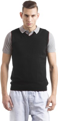 Prym Solid V-neck Casual Men's Grey Sweater
