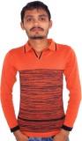 Igsmart Self Design Men's Polo Neck Oran...