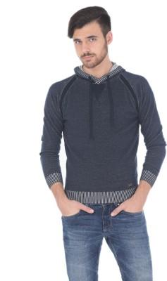 Basics Solid Turtle Neck Casual Men's Dark Blue Sweater