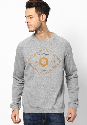 Jack & Jones Full Sleeve Graphic Print Men's Sweatshirt
