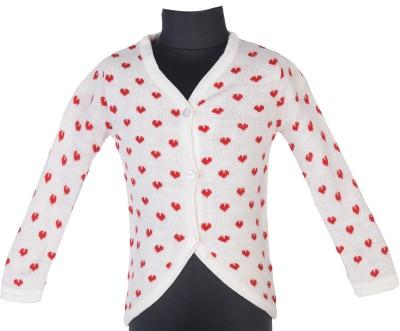 Addyvero Geometric Print Turtle Neck Casual Girl's Red, White Sweater