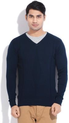 Sports 52 Wear Solid Casual Men's Dark Blue Sweater