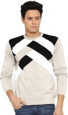 HRX by Hrithik Roshan Solid Round Neck Casual Mens Beige Sweater