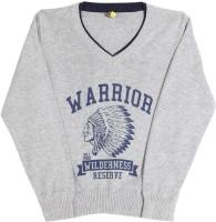 Gini & Jony Printed V-neck Casual Boys Grey sweater best price on Flipkart @ Rs. 714