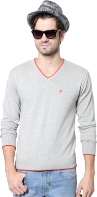People Woven V-neck Casual Mens Sweater