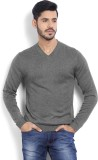 Arrow New York Solid V-neck Casual Men G...