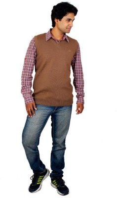 Alpine Enterprises Argyle V-neck Men's Brown Sweater