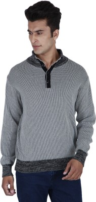 Provogue Solid Cowl Neck Casual Mens Grey Sweater