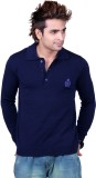 Vivid Bharti Solid V-neck Casual Men Dar...