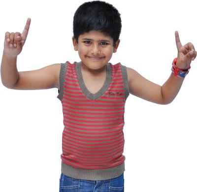 Bio Kid Striped V-neck Casual Boy's Multicolor Sweater