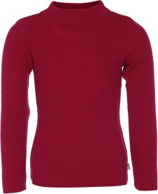 AJ Dezines Solid Round Neck Casual Boys Red Sweater