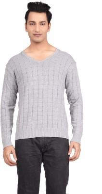 Hoffmen Solid V-neck Men's Grey Sweater