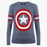 Captain America Printed Round Neck Casua...