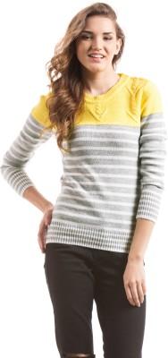 Prym Striped Round Neck Casual Women's Multicolor Sweater