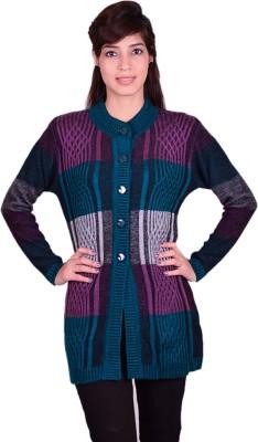 Cee-For Self Design V-neck Casual Women's Multicolor Sweater