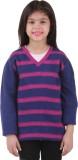 Kids Village Striped V-neck Casual Girls...