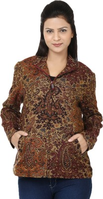 Reevolution Paisley V-neck Casual Women's Brown Sweater