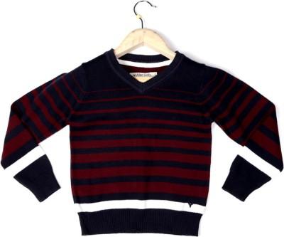 Allen Solly Striped V-neck Boy's Dark Blue Sweater