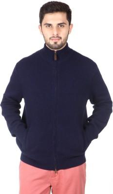 ralph lauren polo Solid Round Neck Casual Men's Dark Blue Sweater